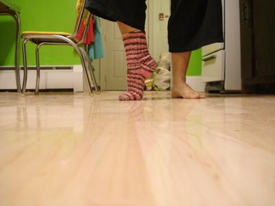 one lacy rib sock2