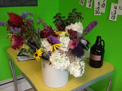 crock o flowers